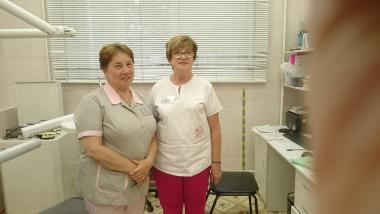 Медсестра Алексеева И.А., хирург-стоматолог Сморщкова О.Н.