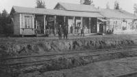 """Первый пассажирский вокзал """"Большая Волга"""", 1937 год"""