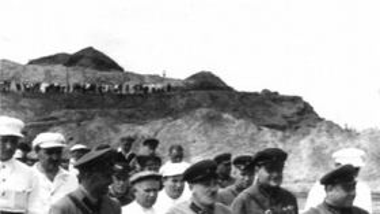 Генрих Ягода на строительстве Волжского узла Канала
